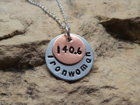 140.6 / 70.3 Ironwoman or Ironman Triathlon Charm