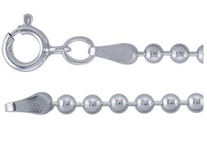 Sterling Silver Medium Ball Chain 20 or 24 in
