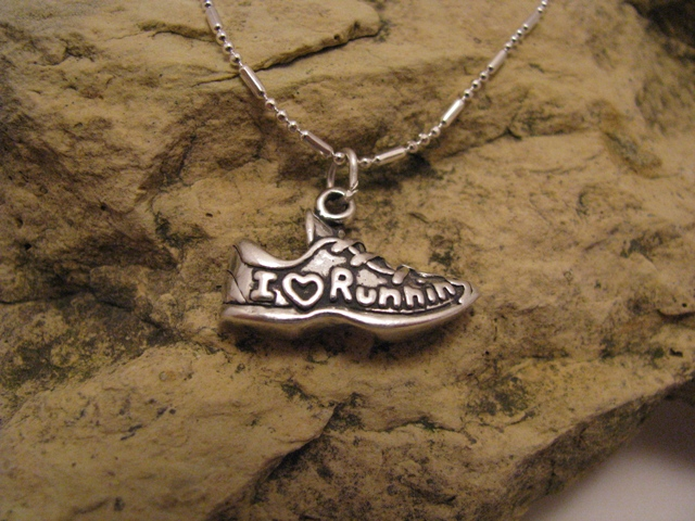 I Love Running- Sterling Silver Charm