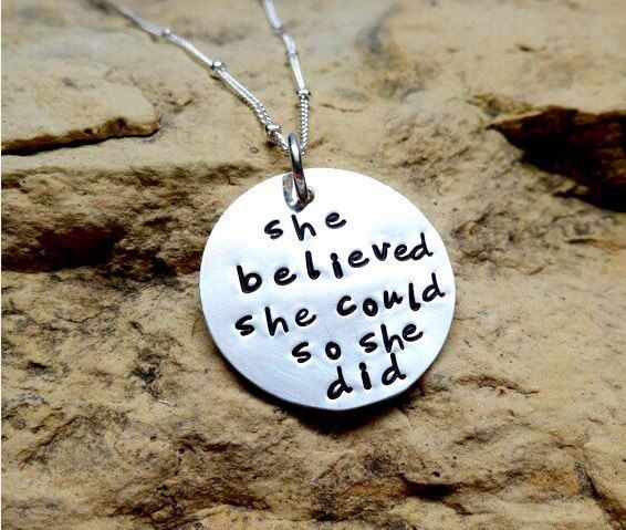 She believed she could so she did - sterling silver charm