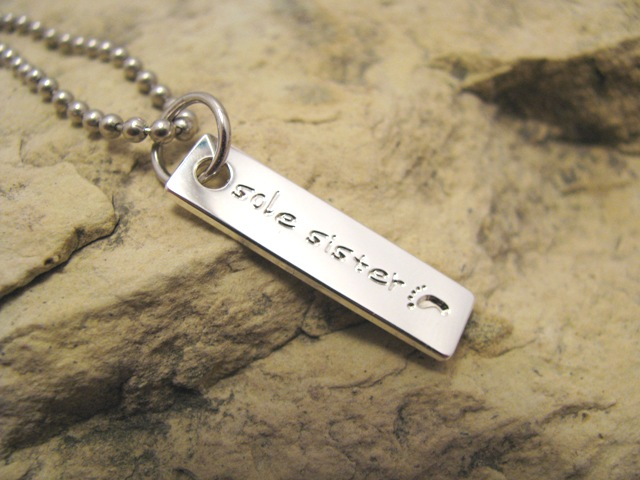 Sole Sister Tag Charm - great gift for runners