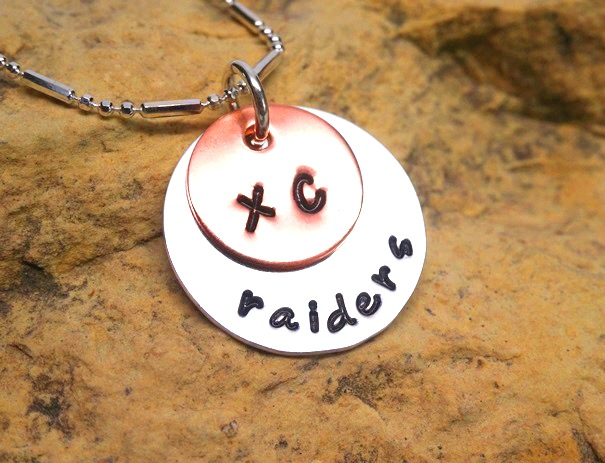 XC - Cross Country and Name - jewelry for athletes