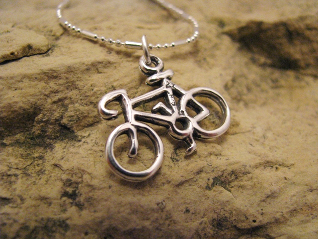 Bicycle - sterling silver charm