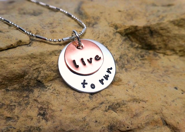 live to run - jewelry for runners