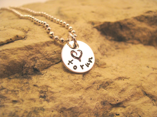 love to run (small) - sterling silver charm