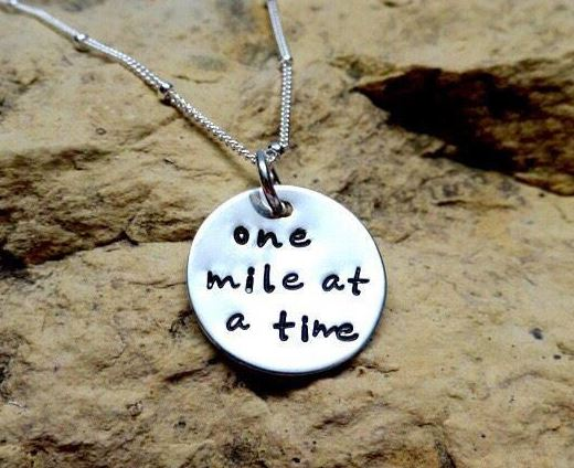 One mile at a time - sterling silver charm