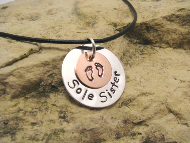 Sole Sister - silver charm (large)