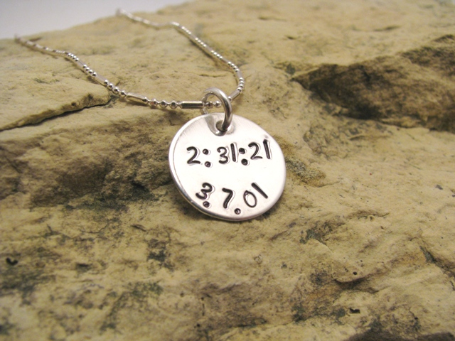 Time and Date Charm - race jewelry