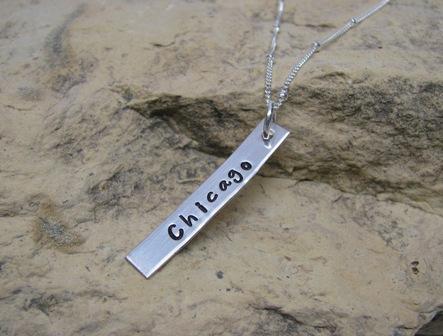 Custom Sterling Silver Tag Charm