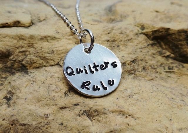 Quilters Rule - silver quilter's charm