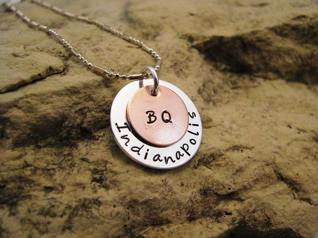 Boston Qualifier - silver and copper charm