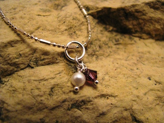 Hand wrapped crystal or pearl