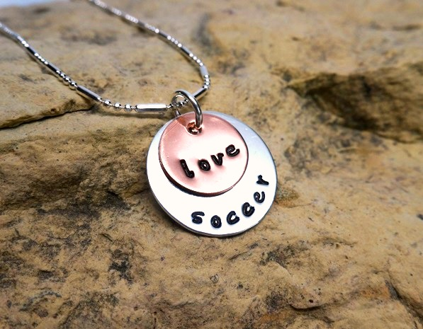 love soccer - jewelry for athletes