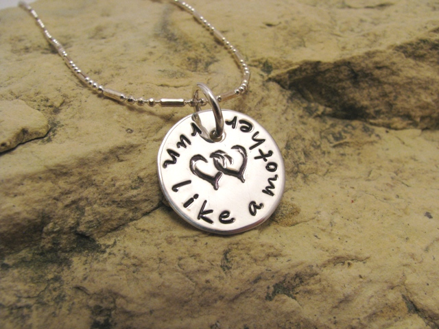 Small run like a mother - sterling silver runner's charm