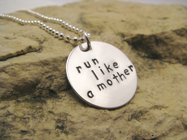 run like a mother - sterling silver runner's charm