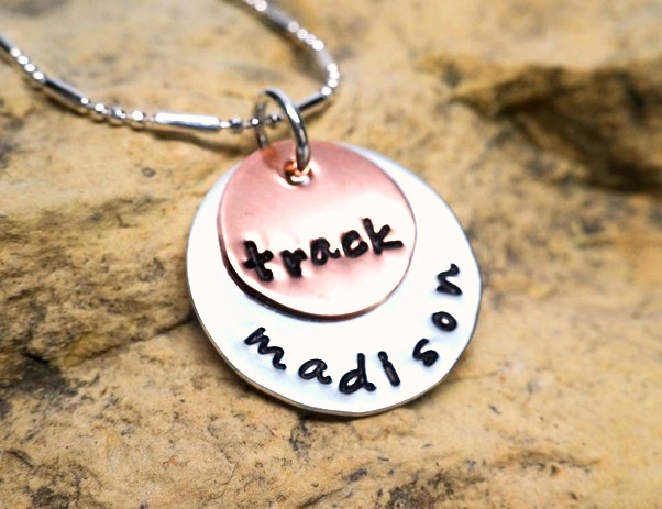 Track and Name - jewelry for athletes